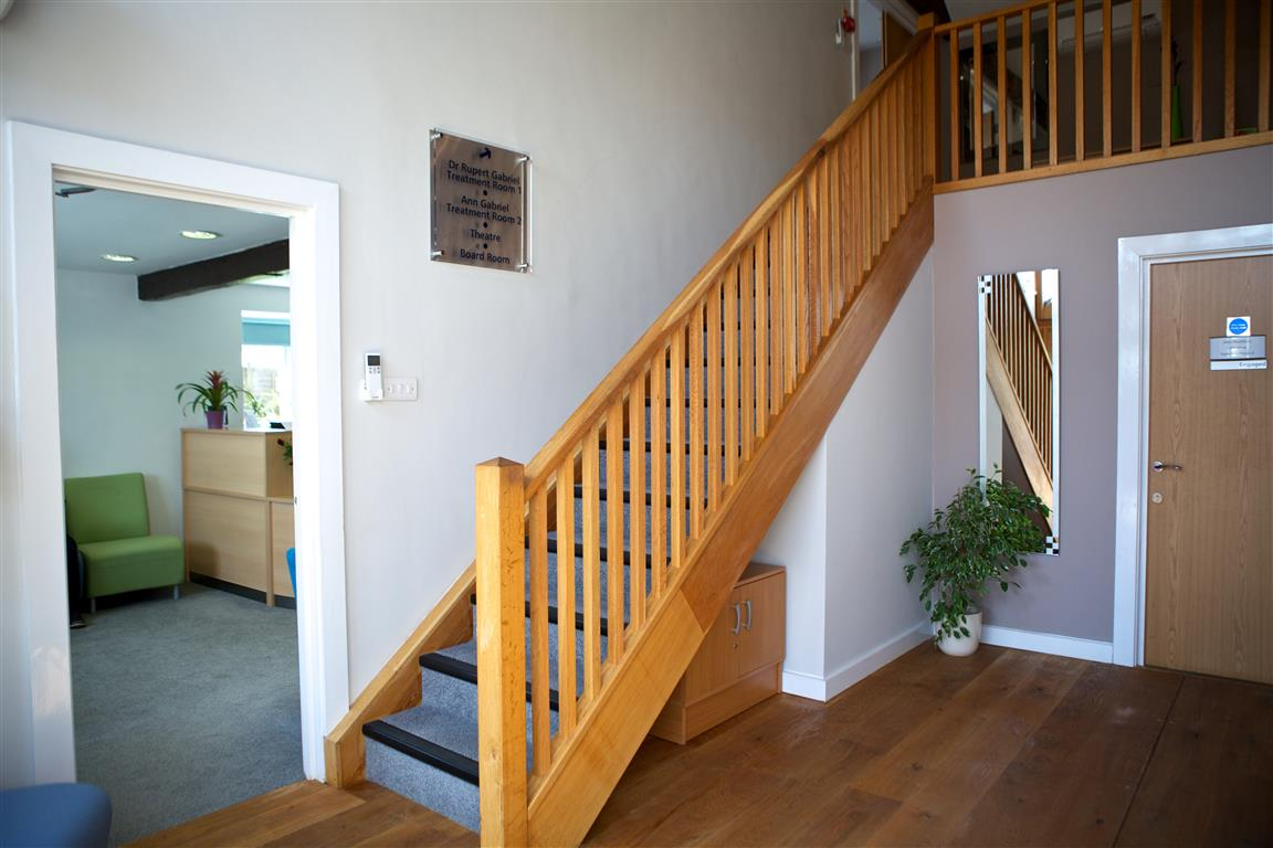 Snowberry Lane Clinic Stairs