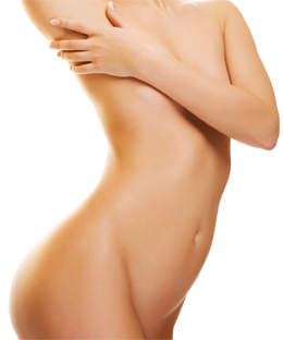 woman's body - laser skin treatment and hair removal