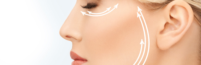 face lift image - woman's face