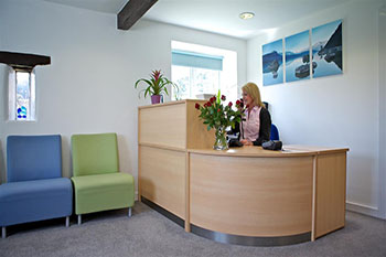 Snowberry Lane Clinic Reception Inside